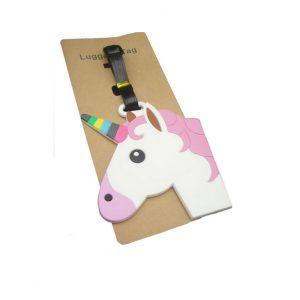 Emoji Unicorn Lichtgewicht Bagagelabel vrolijke eenhoorn