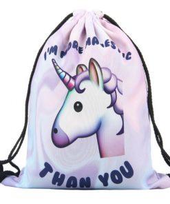 Unicorn Emoji rugtasje gymtas