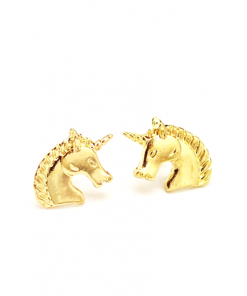 Oorbellen eenhoorn paard in kleur goud