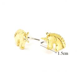 unicorn oorbellen eenhoorn goud kleurig