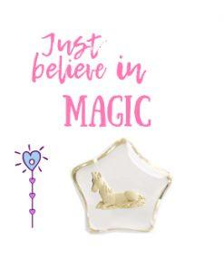 Eenhoorn wenssteen, just believe in magic