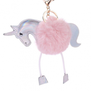Unicorn Sleutelhanger eenhoorn /tashanger roze en zacht