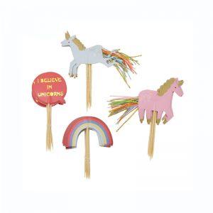 Unicorn Taart decoratie set eenhoorn en regenbogen