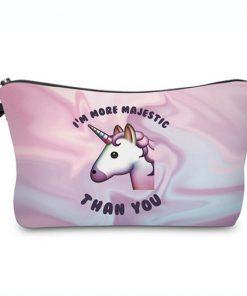 Emoji unicorn Toilettasje / make up tasje / etui Majestic eenhoorn