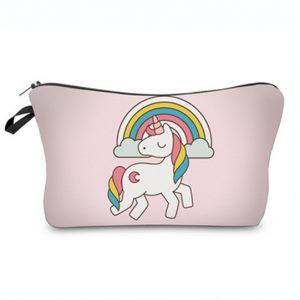 Unicorn Toilettasje / make up tasje / etui met regenboog eenhoorn