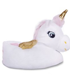 unicorn pantoffels wit