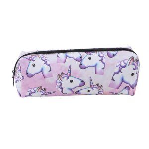 Emoji unicorn etui, make up tasje, toilettas