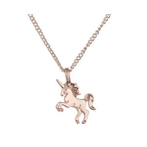 Unicorn ketting, life is magical, ketting paard goud