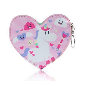 Portemonnee hart met eenhoorn