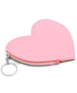 Unicorn portemonnee roze in hartvorm met vrolijke eenhoorn