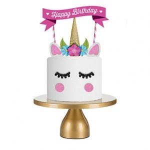 Kinderverjaardag vieren unicorn taart versieren