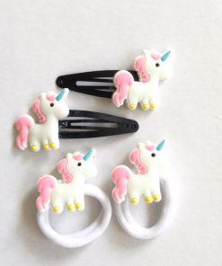 Unicorn haarclipjes en unicorn haarelastiekjes