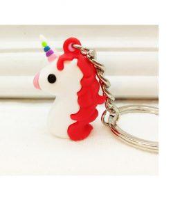 Unicorn sleutelhanger, cartoon figuur uit Emoji serie
