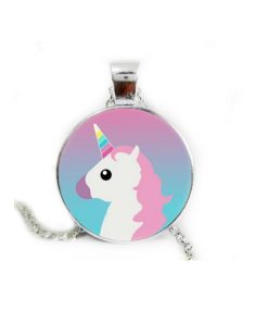 Unicorn cartoon ketting emoji