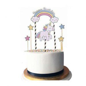 Eenhoorn Taarttopper verjaardag vieren