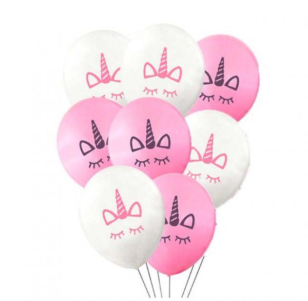 Unicon ballonnen wit en roze