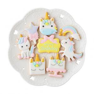Set unicorn koekjes vormen
