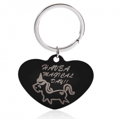 Unicorn sleutelhanger hart have a magical day