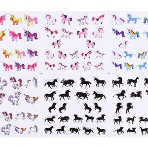 Unicorn nagel water transfer stickers