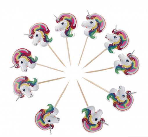Unicorn cake prikkers