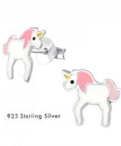 Unicorn oorbellen sterlng zilver