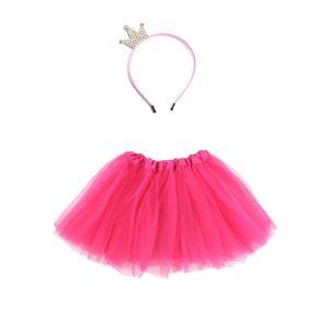 Tutu roze en kroontje voor prinses