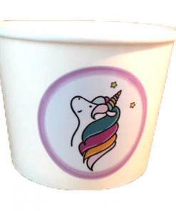 Unicorn servies, soepkom, popcorn bak, eenhoorn ijsbeker