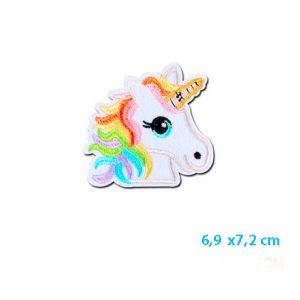 Unicorn strijkapplicatie voor op je kleding of tas, unicorn strijkembleem