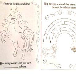 In simpel engels unicorn kleur boekje