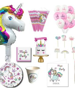 Eenhoorn verjaardagsfeestje Party pakket LARGE