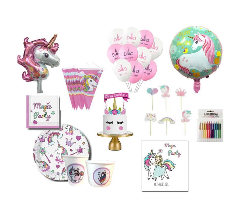 Unicorn verjaardagsfeestje feestpakket l