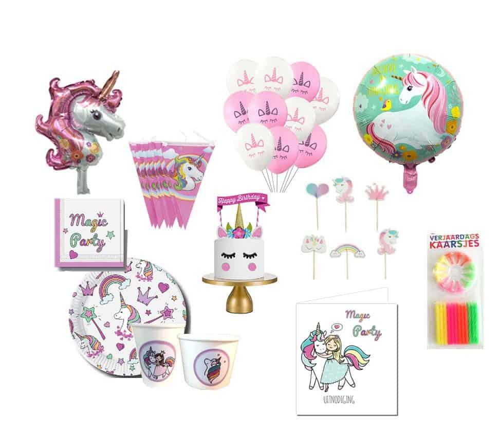 Eenhoorn feestpakket kinderverjaardag