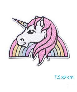 Unicorn strijkembleem applicatie voor oppimpen van kleding