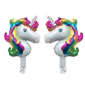 Eenhoorn folie ballon regenboogkleuren