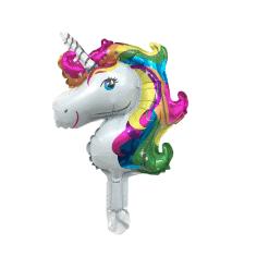 Eenhoorn ballon folie regenboogkleuren