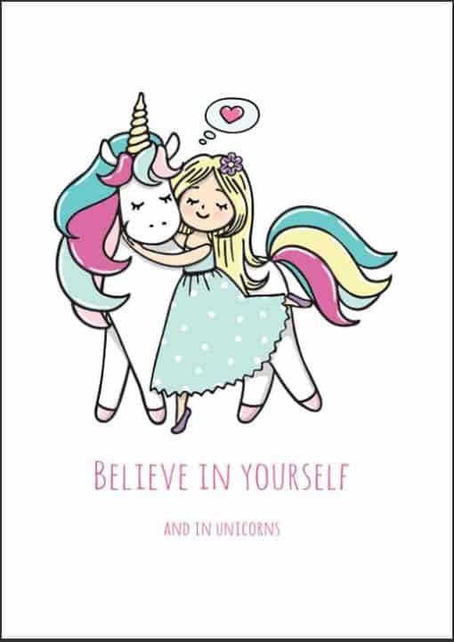 Eenhoorn poster Believe in Yourself
