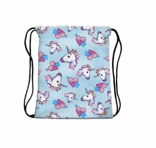Eenhoorn tas Emoji harten