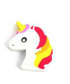 Unicorn cartoon gum om potlood uit te gummen