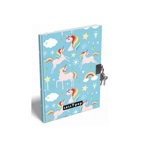 Eenhoorn dagboekje Lollipop met slotje