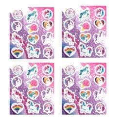Eenhoorn stickers 4x
