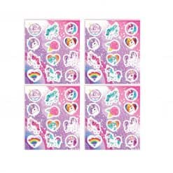 Eenhoorn stickers roze
