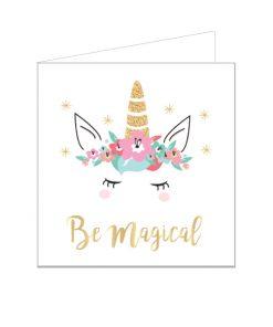 Eenhoorn wenskaart Be Magical