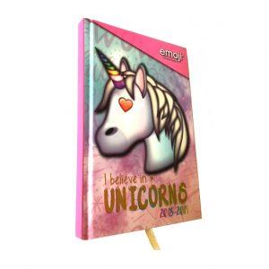 Unicorn schoolagenda 2018-2019 Emoji