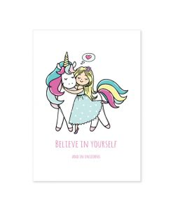 Believe in Yourself unicorn poster