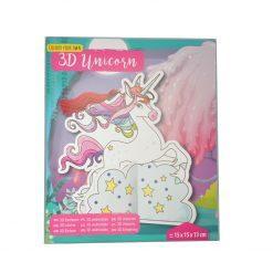 Unicorn kleurplaat 3D set