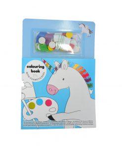 Eenhoorn kleur en plak boek met foamstickers