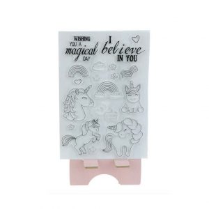 Stempelset eenhoorns I believe in you