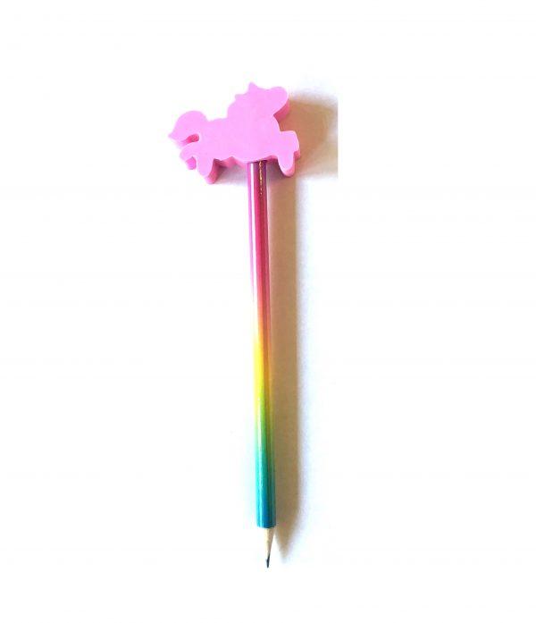eenhoorn potlood roze achterzijde