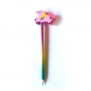 eenhoorn potlood roze met gum