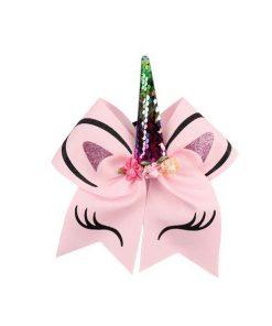 Eenhoorn haar strik roze
